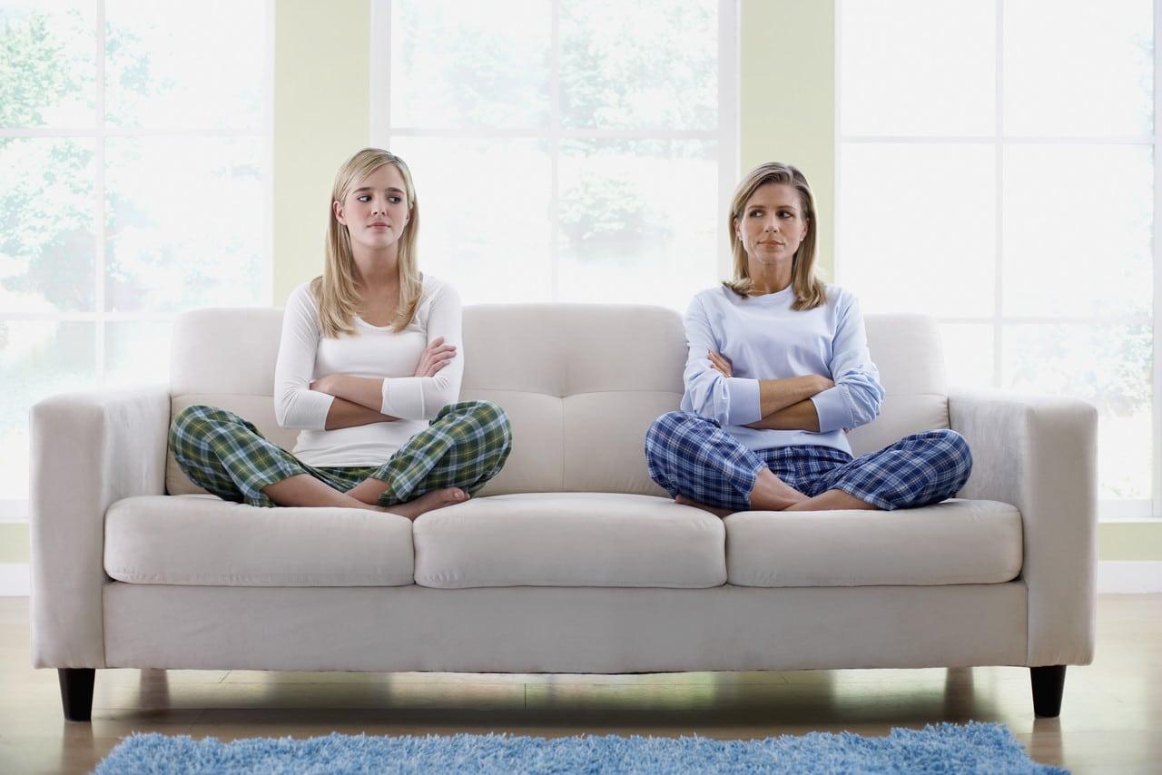 Mère et fille en colère